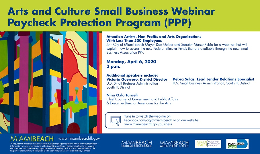 Small Business Webinar - Paycheck Protection Program