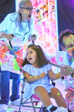 Image: Photo of child enjoying Zot Artz at the 2018 AKI Festival