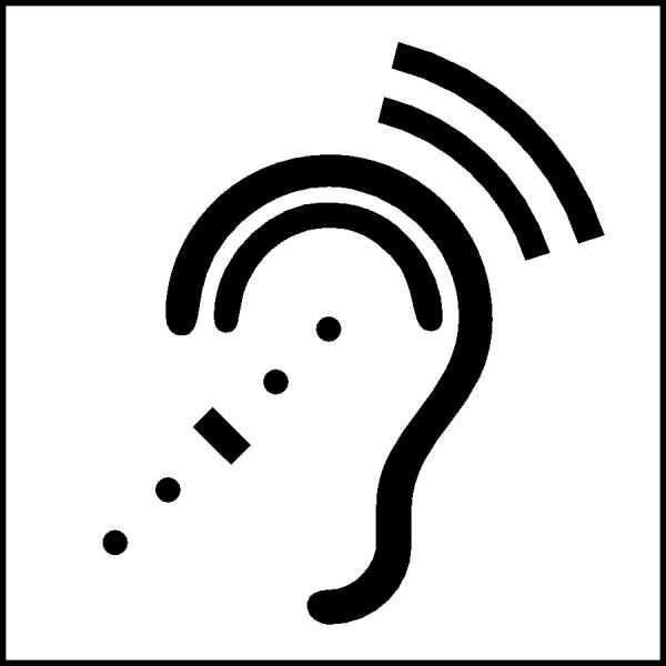 Image: Assistive Listening Device Access Symbol