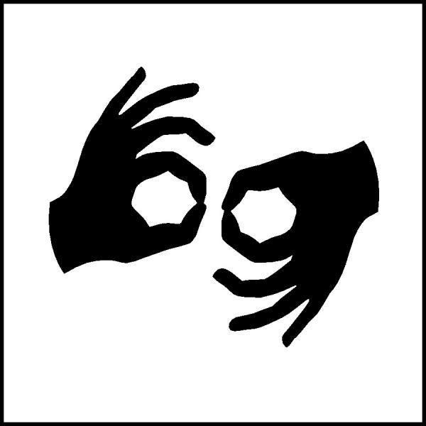 Image: American Sign Language Access Symbol